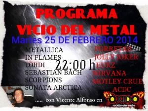 cartel programa vicio del metal